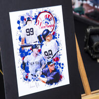 Aaron Judge #99 - Unique Artwork - New York Yankees - 3D Effect - Handmade