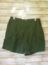 White Sierra Size XL Mens Outdoor Cargo Shorts Green Nylon