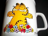 Vintage Coffee Mug Garfield The Cat Cup Morning Glory Crazy Cat Lady Home Decor