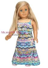 18 inch doll clothes fits American Girl Doll Summer Boho Maxi Dress