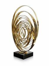 "Énorme Spirale Sculpture ""Mondains Dynamics"" Couleur Or. en 2,5 mm Stahl.90 cm"