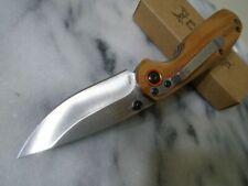 Couteau Elk Ridge Zebrawood Lame Acier 3Cr13 Manche Bois ER966ZB