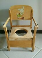 Old Antique Wooden Kids Potty Chair Toilet Trainer