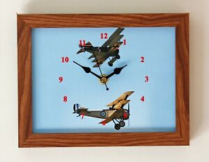 Stock Clearance, Classic Aircraft clock, WW1 Flying Aces