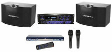 "Vocopro Pro Karaoke Machine System w(2) 10"" Speakers+Amp+CDG DVD Player+(2) Mics"