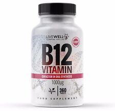 Vitamin B12 1000mcg 360 Vegan Tablets   Tiredness, Fatigue & Immune System