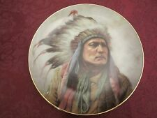 PRIDE OF THE CHEYENNE - PERILLO collector plate Native American Indian