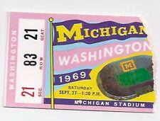1969 Michigan vs Washington college football ticket stub Bo's 1st season