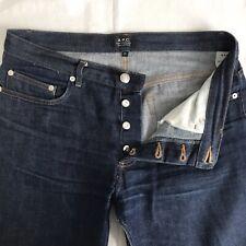 APC Jeans 31 x 29 New Standard Selvedge Denim Raw Blue A.P.C.