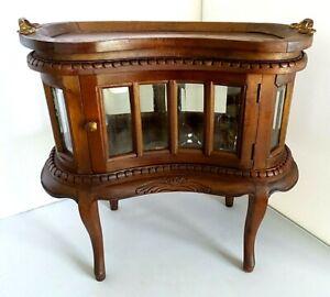 RARE ANTIQUE SALEMAN SAMPLE CURIO TABLE BEVELED GLASS TRAY  CIRCA 1900'S