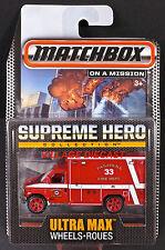 2015 Matchbox Supreme Hero 2009 Ford E-350 Ambulance RED/MOC
