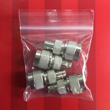 NEW 4 pack BNC female to N male RF coax connector adapters *USA Seller*