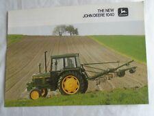 John Deere 1040 Tractor brochure Aug 1979 English text