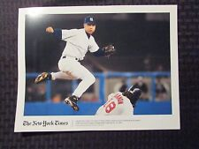 New York Times Sunday 8x10 Baseball NY YANKEES Color Photo LOT of 3 VF 8.0 Jeter