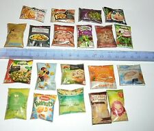 lot 20 Aliments Miniatures factices Maison Poupée Vitrine Doll House Food Barbie