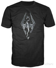 Skyrim - Dragon Logo Apparel T-Shirt L - Black