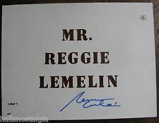 Reggie Lemelin Signed Name Card Sign (used at personal appearance) Boston Bruins