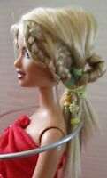 Barbie Doll Blonde Hair red top and long skirt red high heels