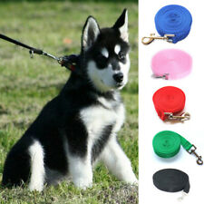 Pet Dog Lead Leash Long Obedience Foot Feet Recall Nylon Training Rope Solid