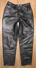 Ladies- Leather Jeans/Leather Pants IN Black Approx. Size 36/38 From Lamm- Nappa