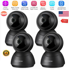 4x Yi Cloud Wireless Ip Security Camera Hd 1080P Pan/Tilt/Zoom Night Vision Home
