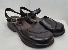 Dansko black Shoes ankle strap closed toe stitches womens size 38 7.5 8