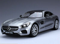 Maisto 1:18 Mercedes Benz AMG GT Diecast Model Car Silver NEW IN BOX