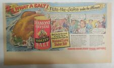 Diamond Salt Ad: What A Salt! Flake like Grains! from 1951 Size: 7. x 15 inches