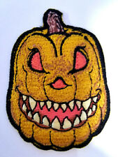 Pumpkin Evil Jack O Lantern Patch Embroidered Iron On Halloween Horror