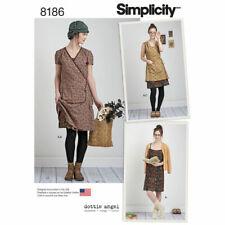 Simplicity 8186 Paper Sewing Pattern Misses' 4-20 Slip Wrap Dress Dottie Angel