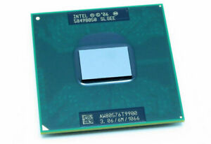 Intel Core 2 Duo T9900 CPU 3.06 GHz 6MB 1066 MHz Socket P, M SLGEE Processor