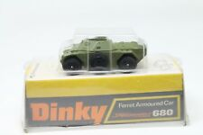 DINKY TOYS 680  *  FERRET ARMOURED CAR * MINT * BUBBLE BOX