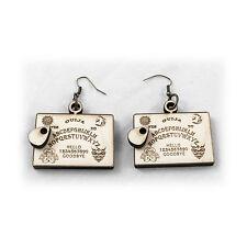 Ouija Board Earings - Wood