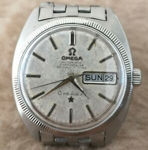 OMEGA Constellation DAY-DATE 168.029 Automatic 751 14K & SS 34mm MENS Watch 1969