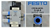 FESTO CPE18-M1H-5J-QS-8 163151 Solenoid Valve Tested Good