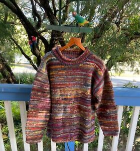 wool jumper space dye chunky knit knitted sweater pullover loudelephant crew