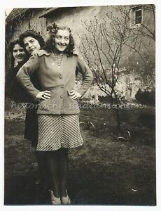 Drei hübsche Frauen - Altes Foto 1930er