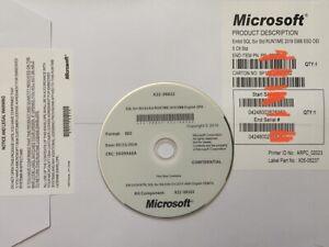 SQL Server Standard 2019 16 CPU Cores License Key DVD & COA ,Brand New Sealed