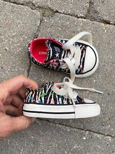 CONVERSE baby girl sz 2 shoes worn3weeks EUC