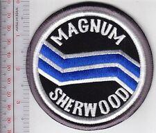 SCUBA Diving USA Sherwood Magnum Diving Regulator Patch on Black background