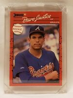 1990 Donruss #704 David Justice Atlanta Braves RC Rookie Baseball Card NM/M
