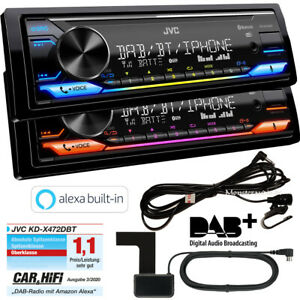 JVC KD-X472DBT DAB+ inkl Antenne Bluetooth USB AUX Alexa Autoradio Android iOS