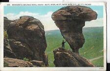 wonderful balance rock,idaho postcard 1941