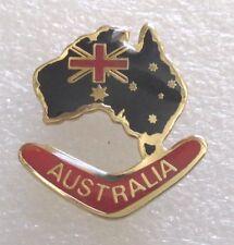 Australia Tourist Travel Souvenir Collector Pin-Map Boomerang