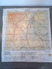 WWII AAF Escape Map Scarf CHINA NL-50 BUIR NOR / TSITSIHAR NL-51