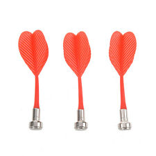 """SODIAL(R) 3 Pcs Indoor Game 3.2"""" Red Plastic Wing Magnetic Darts E7I8 W6N4"""