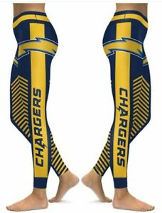 Los Angeles Chargers Small to 2X-Large Women's Leggings New 2020