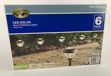 P Pack Hampton Bay Solar Lights 2-Light LED Solar Acorn Pathway Bronze Finish