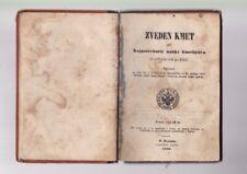 ZVEDEN KMET nauki kmetijstva libro sloveno agronomia piante TRIESTE 1856 lloyd