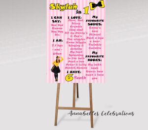 Emma Wiggle First Birthday Personalised Milestone Party Decoration 1st PrintFile